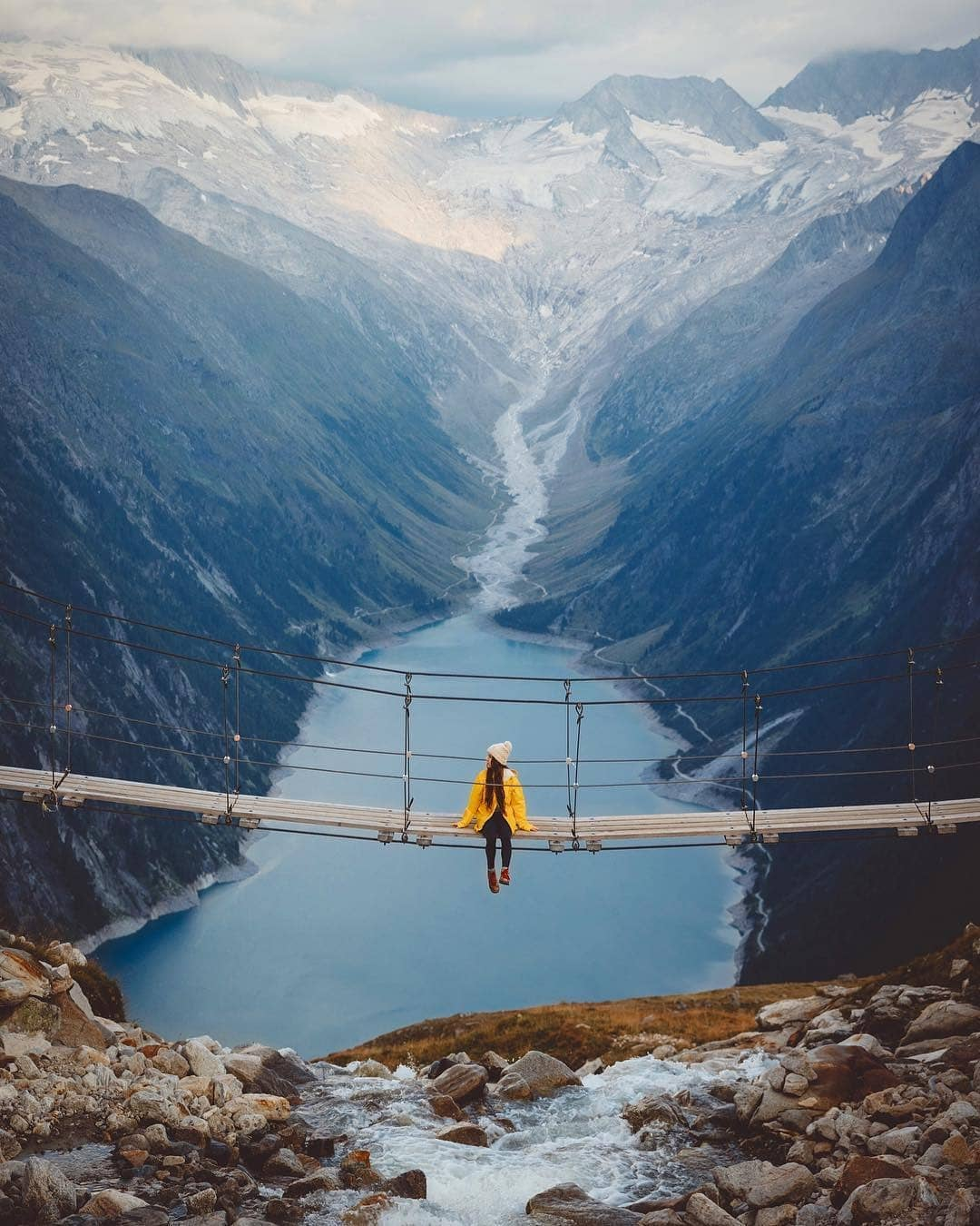Thung lũng Zillertal, Hồ Schlegeis, Tyrol, Áo