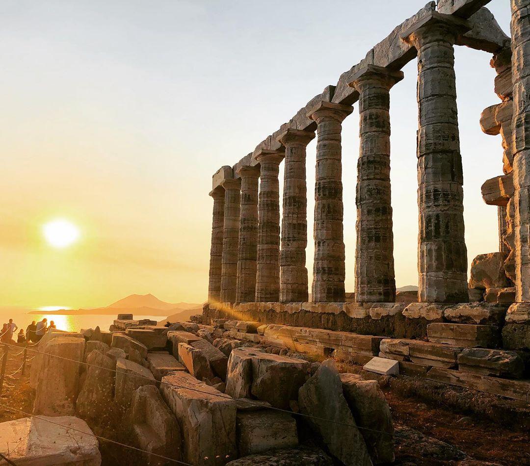 Cape Sounion - Đền Poseidon, Hy Lạp