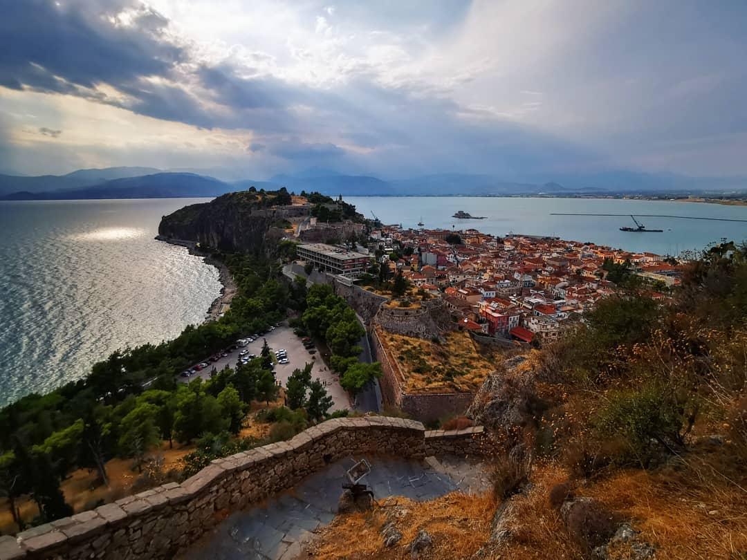 Palamidi Castel, thị trấn Nafplio, Hy Lạp