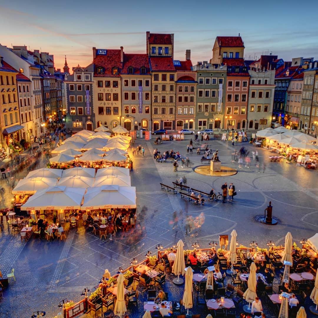Old Town Market Place, Warsaw, Ba Lan