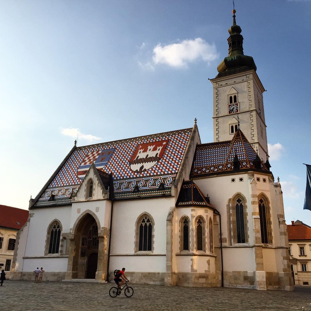 Markov trg, Nhà thờ St Mark's, Zagreb, Croatia