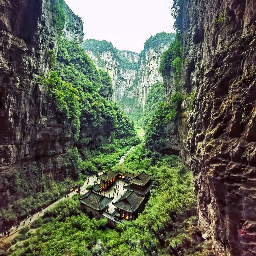 Công viên địa chất Wulong, Trùng Khánh (Chongqing), Tứ Xuyên, Trung Quốc