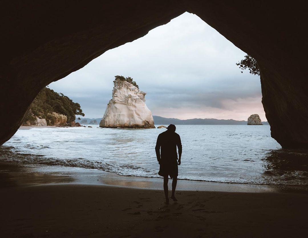 Cathedral Cove ở bán đảo Coromandel, New Zealand