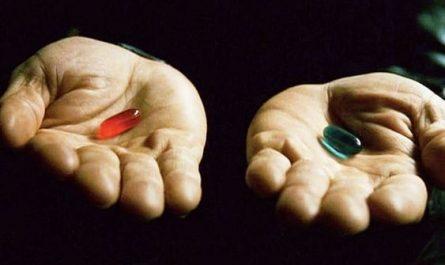 """Triết lý về """"blue pill"""" và """"red pill"""""""